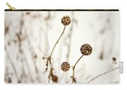 Seed Heads In The Snow Carry-all Pouch