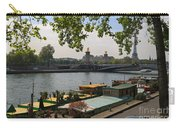 Seine Barges In Paris In Spring Carry-all Pouch