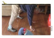 Self Portrait 8 - Downward Dog With Grandson Max On His 2nd Birthday Carry-all Pouch