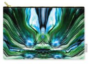Self Reflection - Blue Green Carry-all Pouch