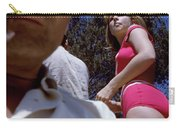 Selfie With Pink Bikini Girl Carry-all Pouch