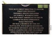 Semper Fi To The 1st Man Down In Iraqi Freedom Plaque Carry-all Pouch