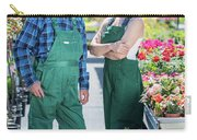 Senior Gardener And Middle-aged Gardener At Work. Carry-all Pouch