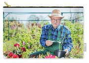 Senior Gardener Selecting A Tree. Carry-all Pouch