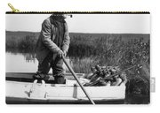 Senior Man Hunting Ducks, C.1920-30s Carry-all Pouch