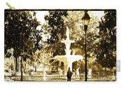 Sepia Afternoon Forsyth Park Fountain In Savannah Georgia Usa  Carry-all Pouch