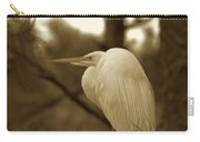 Sepia Egret  Carry-all Pouch