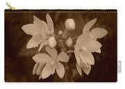 Sepia Flower Carry-all Pouch