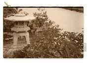 Sepia Japanese Garden Carry-all Pouch
