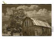Sepia Michigan Barn Landscape Carry-all Pouch