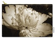 Sepia Peony Flower Art Carry-all Pouch