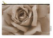 Sepia Rose Abstract Carry-all Pouch