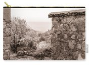 Sepia-toned Fikardou Village Scene 1 Carry-all Pouch