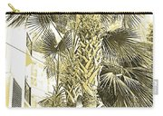 Sepia Toned Pen And Ink Palm Trees Carry-all Pouch