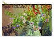 September Birthday Aster Carry-all Pouch