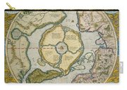 Septentrionalium Terrarum Descriptio Carry-all Pouch by Gerardus Mercator