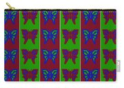Serendipity Butterflies Blueredgreen 14of15 Carry-all Pouch