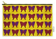 Serendipity Butterflies Brickgoldblue 26 Carry-all Pouch