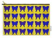 Serendipity Butterflies Brickgoldblue 27 Carry-all Pouch