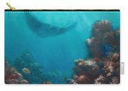 Serenity - Hawaiian Underwater Reef And Manta Ray Carry-all Pouch