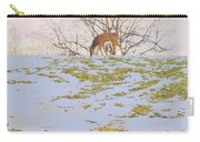 Serenity In The Spring Snow Carry-all Pouch