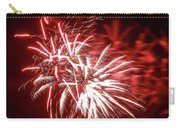 Series Of Red And White Fireworks Carry-all Pouch