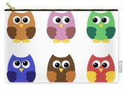 Set Of Six Little Owlets Carry-all Pouch
