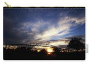 Setting Sun And Cloudy Skies Carry-all Pouch