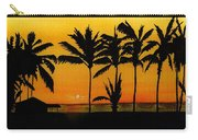 Setting Sun In The Tropics Carry-all Pouch