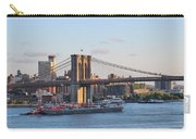 Setting Sun On Brooklyn Bridge Carry-all Pouch
