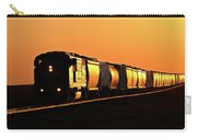 Setting Sun Reflecting Off Train And Track Carry-all Pouch