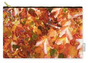 Seurat-like Fall Leaves Carry-all Pouch