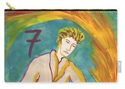 Seven Of Wands Illustrated Carry-all Pouch