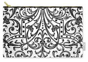 Seventeenth Century Parterre Pattern Design Carry-all Pouch