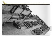 Seville - Giralda In Black And White Carry-all Pouch