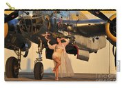 Sexy 1940s Pin-up Girl In Lingerie Carry-all Pouch