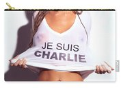 Sexy Young Woman In Wet Je Suis Charlie Shirt Charlie Riina Carry-all Pouch