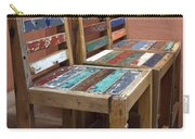 Shabby Chic Chairs Carry-all Pouch
