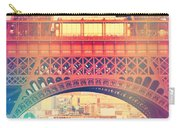 Shabby Chic Eiffel Tower Paris Carry-all Pouch