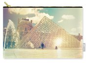 Shabby Chic Louvre Museum Paris Carry-all Pouch