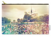 Shabby Chic Love Locks Near Notre Dame Paris Carry-all Pouch