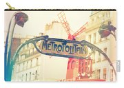 Shabby Chic Moulin Rouge Metro Sign Paris Carry-all Pouch