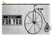 Shabby Chic, Old Bicycle No 01 Carry-all Pouch