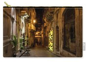 Shabby Chic - Small Street Night Walk In Syracuse Sicily Carry-all Pouch