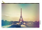 Shabby Chic Vintage Style Eiffel Tower Paris Carry-all Pouch