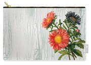 Shabby Chic Wildflowers On Wood Carry-all Pouch