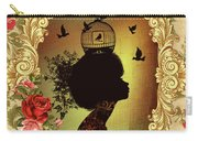 Shabby Fae Silhouette  Golden Carry-all Pouch