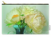 Beautiful Peony Flowers  In Blue Vase. Carry-all Pouch