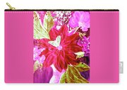 Shades Of Pink Flowers Carry-all Pouch