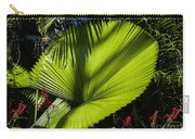 Shadow On A Ruffled Fan Palm Carry-all Pouch